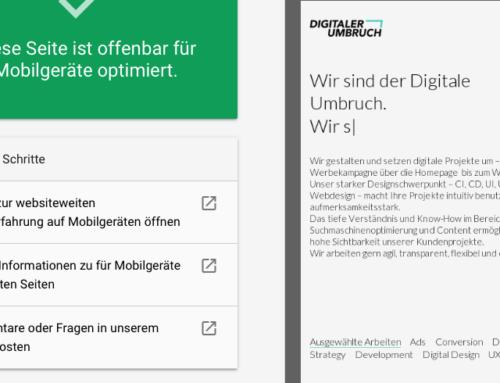 Google belohnt mobil optimierte Webseiten