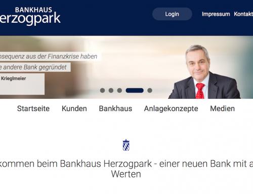 Bankhaus Herzogpark mit neuem Internetauftritt