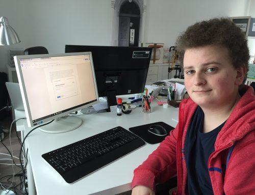Neu: ein Schülerpraktikant beim Digitalen Umbruch