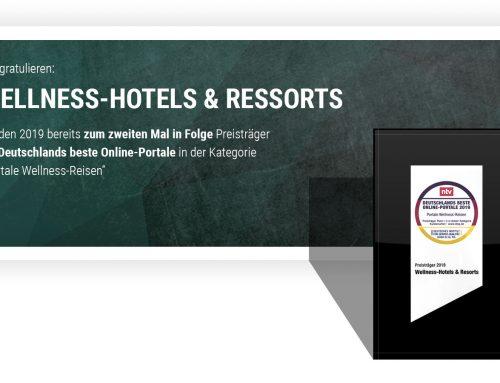 Wir gratulieren: die Wellness-Hotels und Resorts gewinnen!