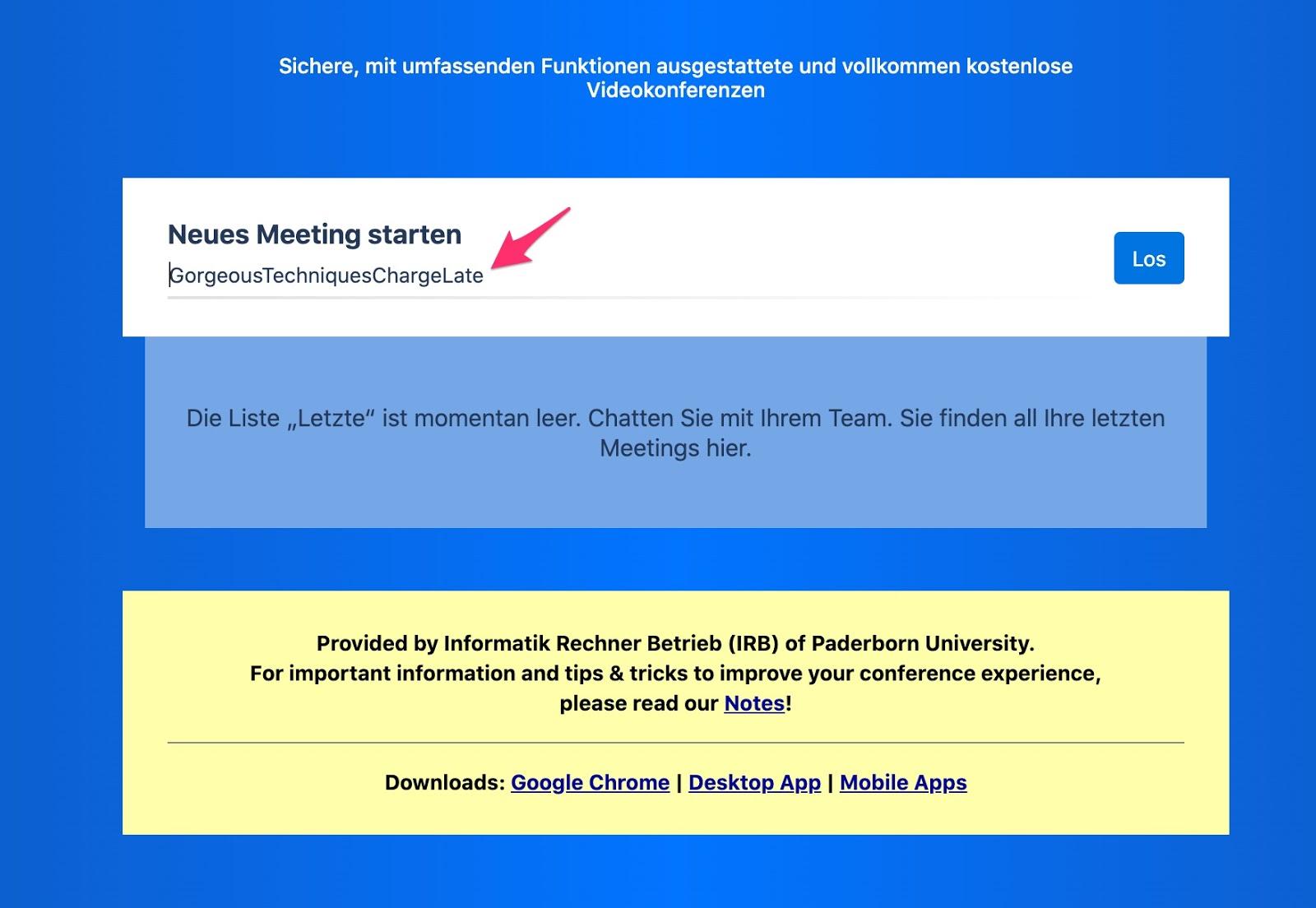 Jitsi Meet - Konferenzraum einrichten
