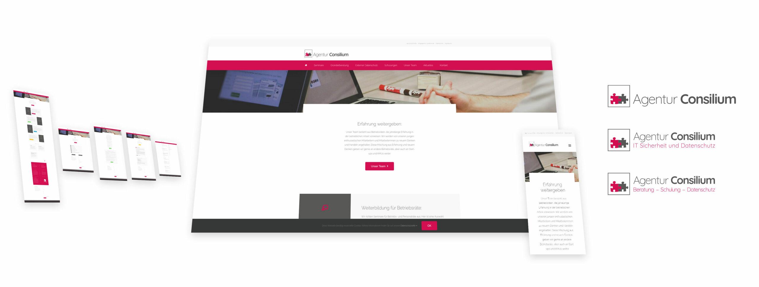 Existenzgründer-Webseite für erfahrenen Datenschützer - Agentur Consilium