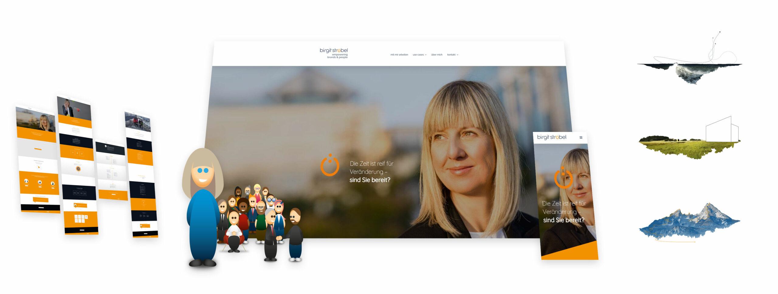 Individuelle Webpräsentation der Top Management-Beraterin Birgit Ströbel
